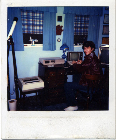 Jimmy with his Adam computer 1984